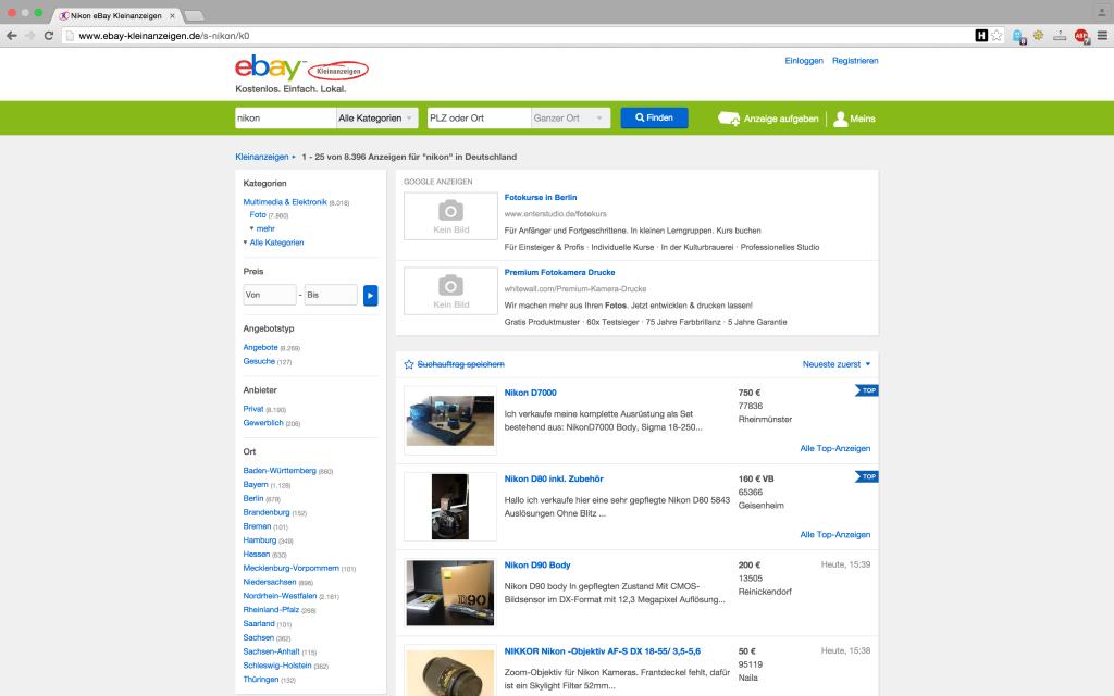 verkäufer suchen ebay
